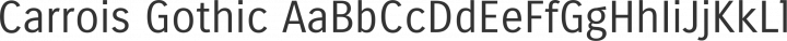 Carrois Gothic Regular free font