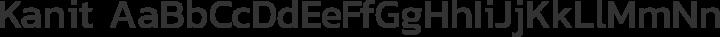 Kanit Regular free font