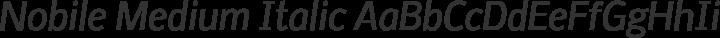 Nobile Medium Italic free font