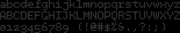BPdots Font Specimen