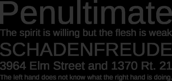 Liberation Sans Font Phrases