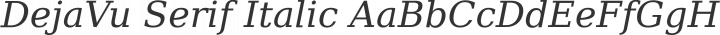 DejaVu Serif Italic free font