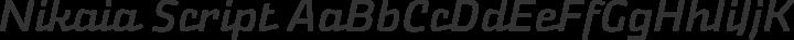 Nikaia Script free font