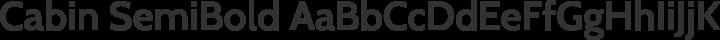 Cabin SemiBold free font