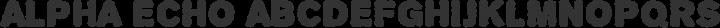 Alpha Echo Regular free font