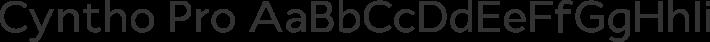 Cyntho Pro font family by Mint Type
