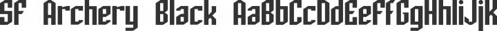 SF Archery Black Regular free font