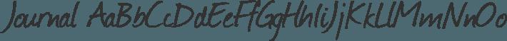 Journal font family by Fontourist