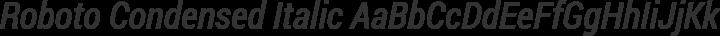 Roboto Condensed Italic free font