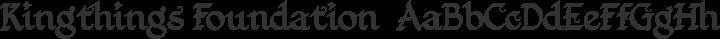 Kingthings Foundation  Regular free font