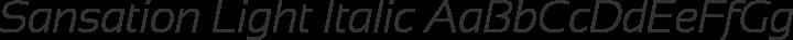 Sansation Light Italic free font