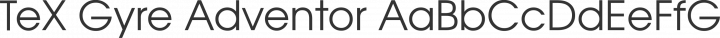 TeX Gyre Adventor Regular free font