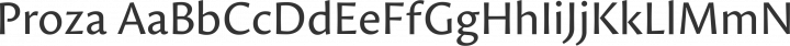 Proza Regular free font