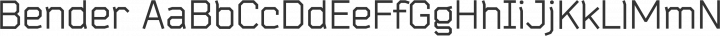 Bender Regular free font