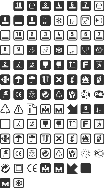 Notice Dingbat Font Specimen