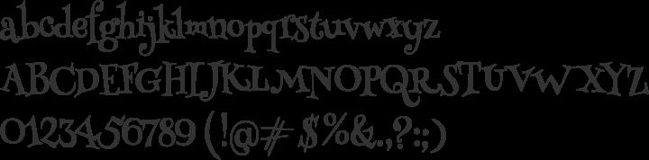 Henny Penny Font Specimen