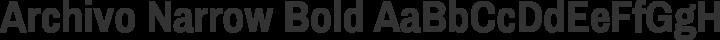 Archivo Narrow Bold free font