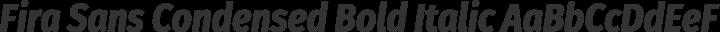 Fira Sans Condensed Bold Italic free font