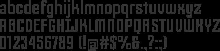 Slim Jim Font Specimen