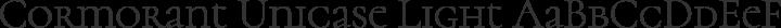 Cormorant Unicase Light free font