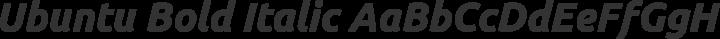 Ubuntu Bold Italic free font