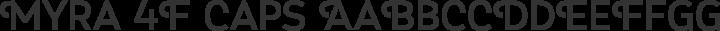 Myra 4F Caps Regular free font