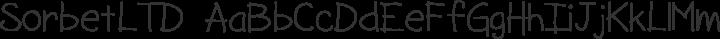 SorbetLTD Regular free font