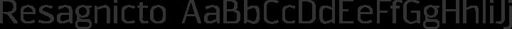 Resagnicto Regular free font