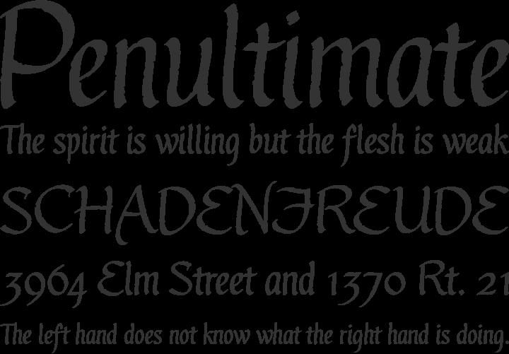 Gothic Ultra OT Font Phrases