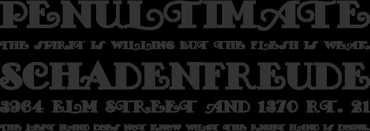 FancyPants Font Phrases
