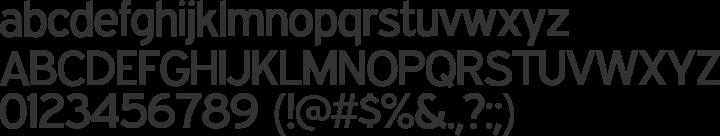 Expressway Font Specimen