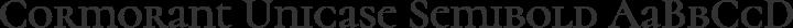 Cormorant Unicase Semibold free font