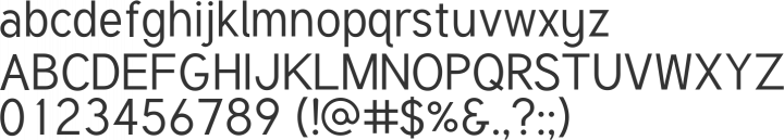 Tuffy Font Specimen