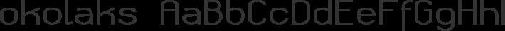 okolaks font family by GLUK fonts