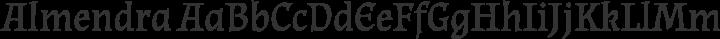 Almendra Regular free font