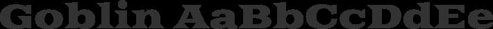 Goblin font family by Sorkin Type Co