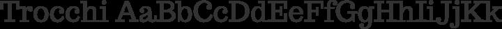 Trocchi Regular free font