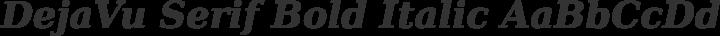 DejaVu Serif Bold Italic free font