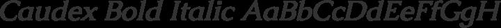 Caudex Bold Italic free font