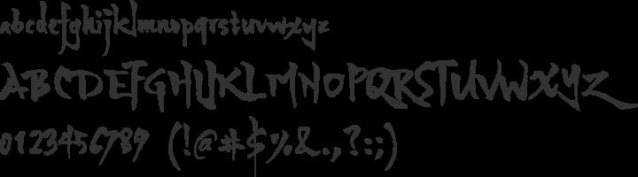 Yozakura JP Font Specimen