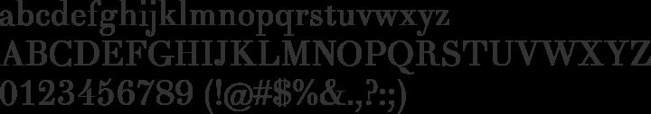 Theano Didot Font Specimen