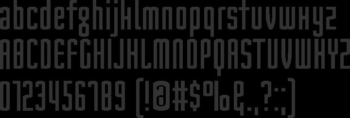 Nord Font Specimen