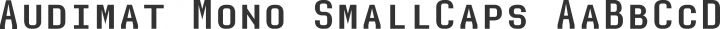 Audimat Mono SmallCaps free font