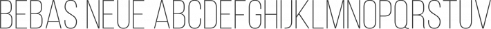 Bebas Neue font family by Flat-it