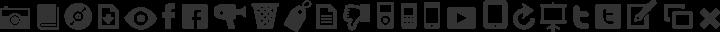 Modern Pictograms Regular free font