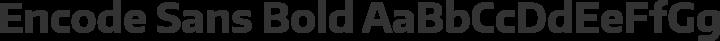 Encode Sans Bold free font
