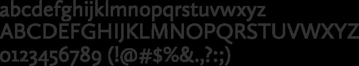 Calluna Sans Font Specimen