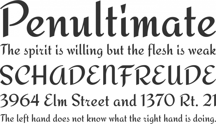 Redressed Font Phrases