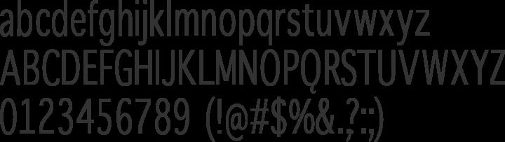 WinterthurCondensed Font Specimen