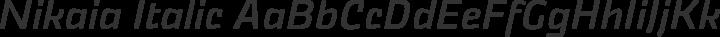 Nikaia Italic free font